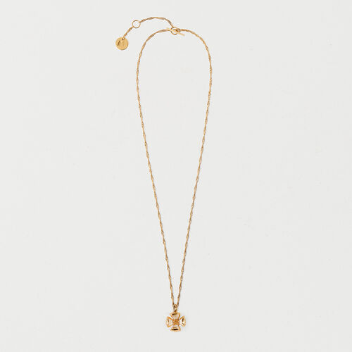 Necklace with small closed flower : New in color GOLD