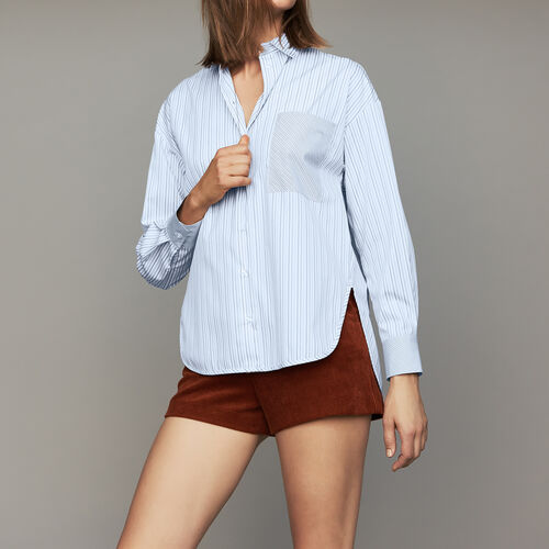 Cotton striped shirt : Shirts color Stripe