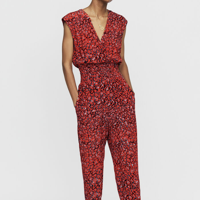 Sleeveless jumpsuit : Ready to wear color PRINTED