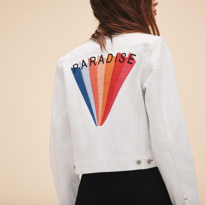 Embroidered denim jacket - See all - MAJE