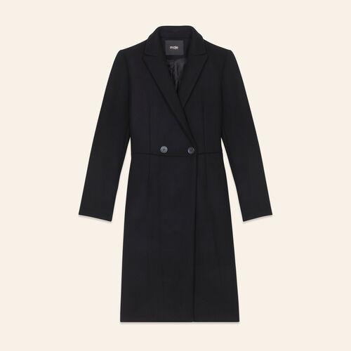 Mid-length wool frock coat - Coats - MAJE