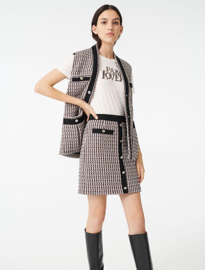 Tweed-style lurex skirt - Skirts & Shorts - MAJE