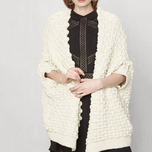 Chunky knit cardigan : Sweaters & Cardigans color Jacquard