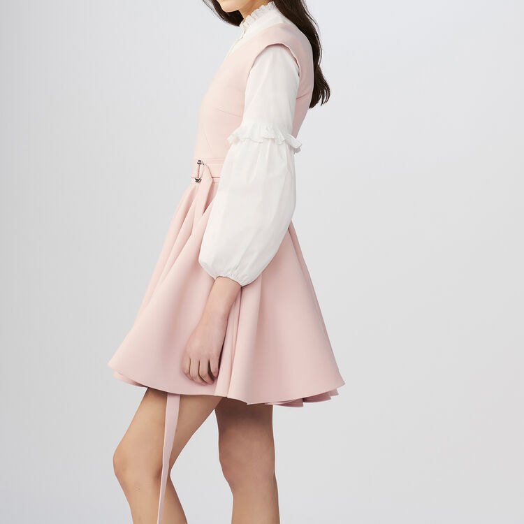 Sleeveless crepe skater skirt : Dresses color Pink