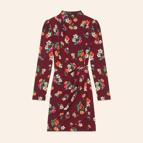 Printed wrapover dress : Dresses color Print