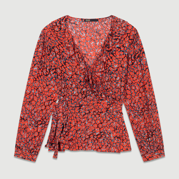 Leopard print blouse : New Collection color PRINTED