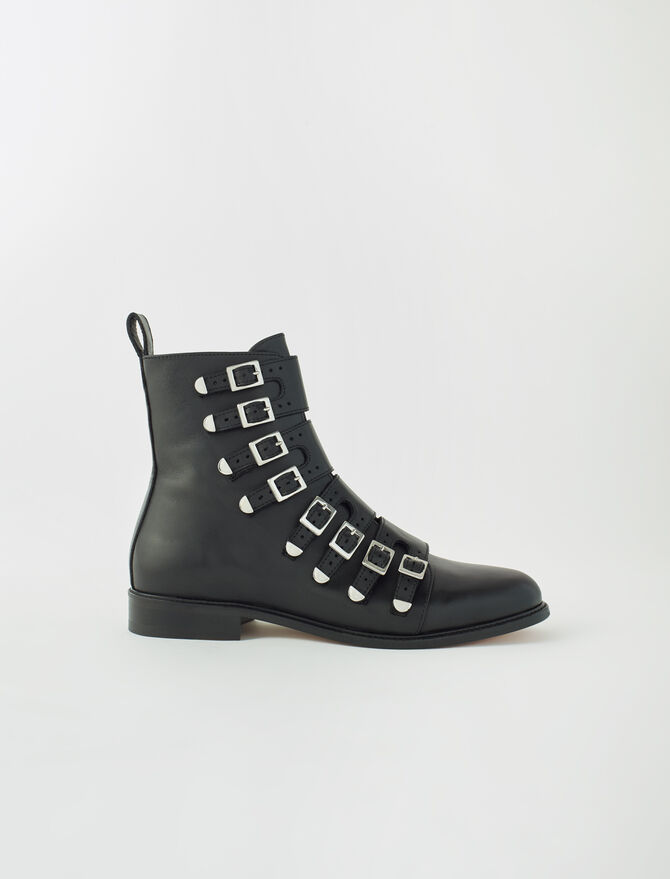 Multi-strap flat boots - New collection - MAJE