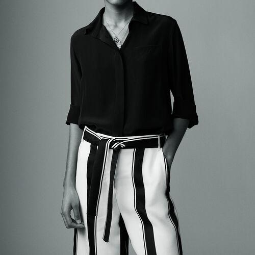 Silk shirt : Shirts color Black 210