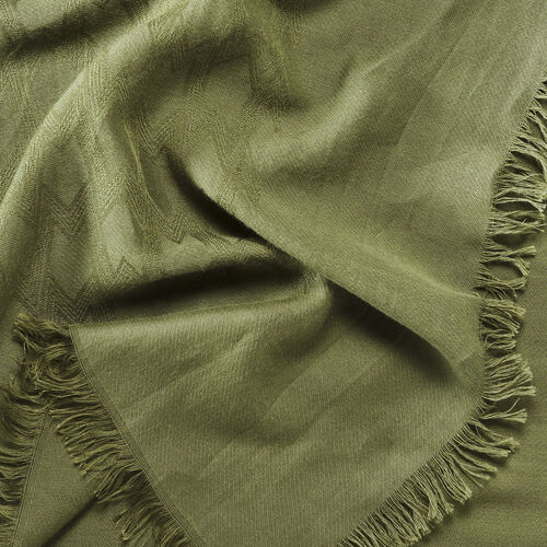 Cotton blend  shawl : Accessoires color Black 210