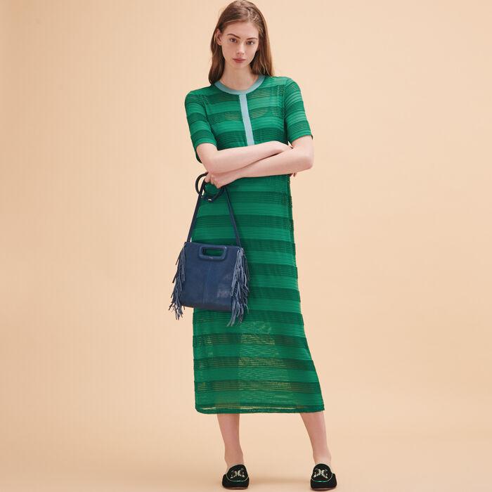 Long knitted string dress - 50% Rabatt - MAJE