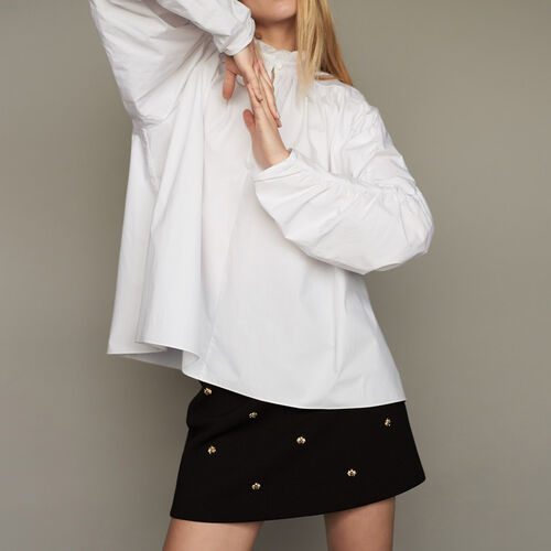 Oversized blouse with gathers - Pre-collection - MAJE