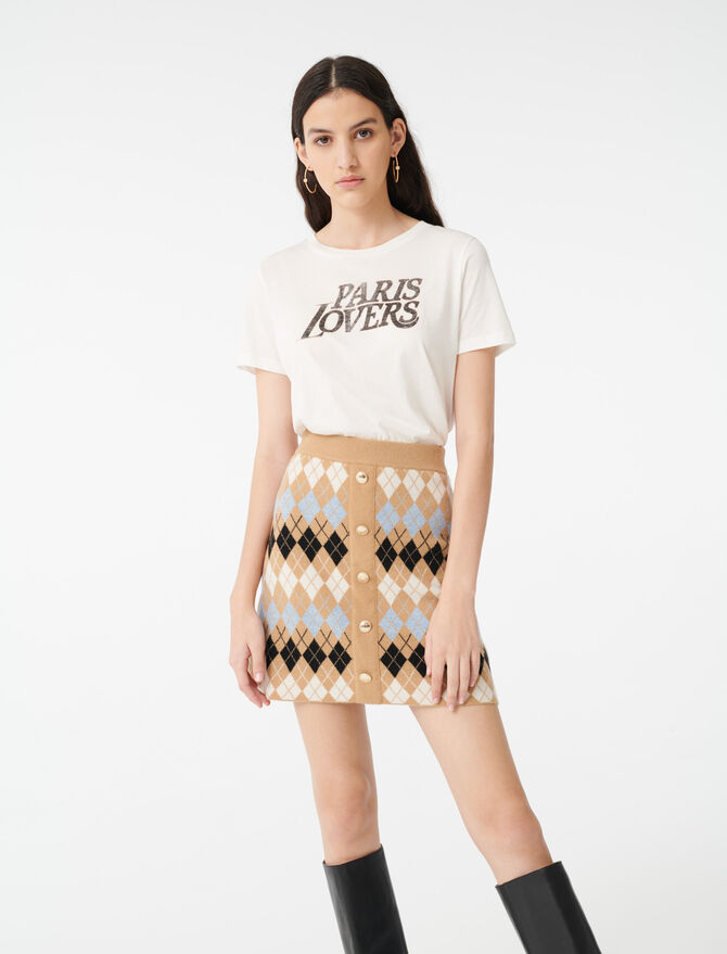 Buttoned jacquard skirt - Skirts & Shorts - MAJE