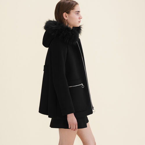 Coat with decorative zips - Coats - MAJE
