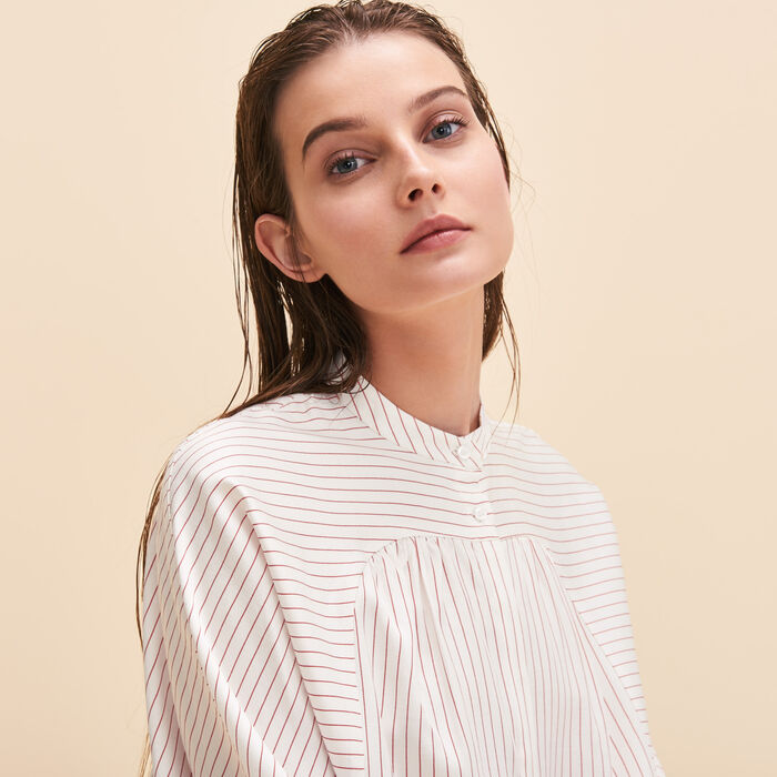 Floaty striped shirt -  - MAJE