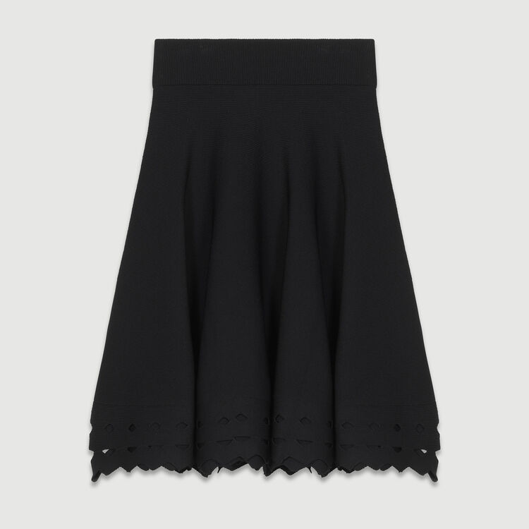 Openwork knit skirt : Skirts & Shorts color Black 210