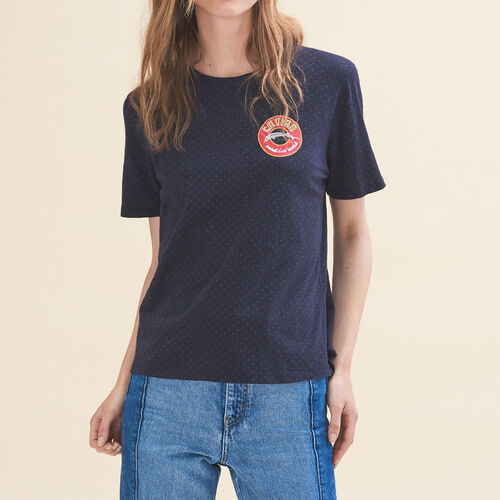 Embroidered T-shirt Tuesday : T-shirts color Navy