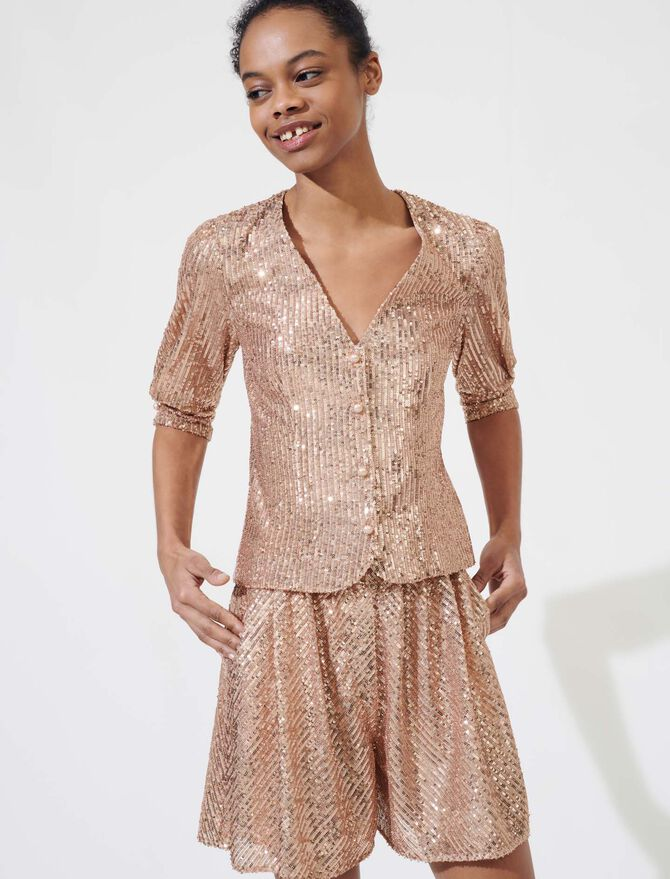 Sparkly top - Tops & Shirts - MAJE
