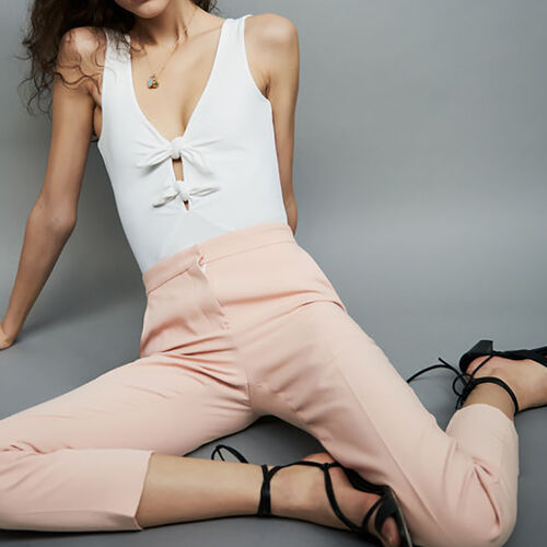 Straight leg trousers : Trousers color Pink