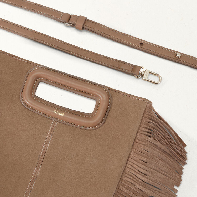 Suede M bag : M bag color Beige