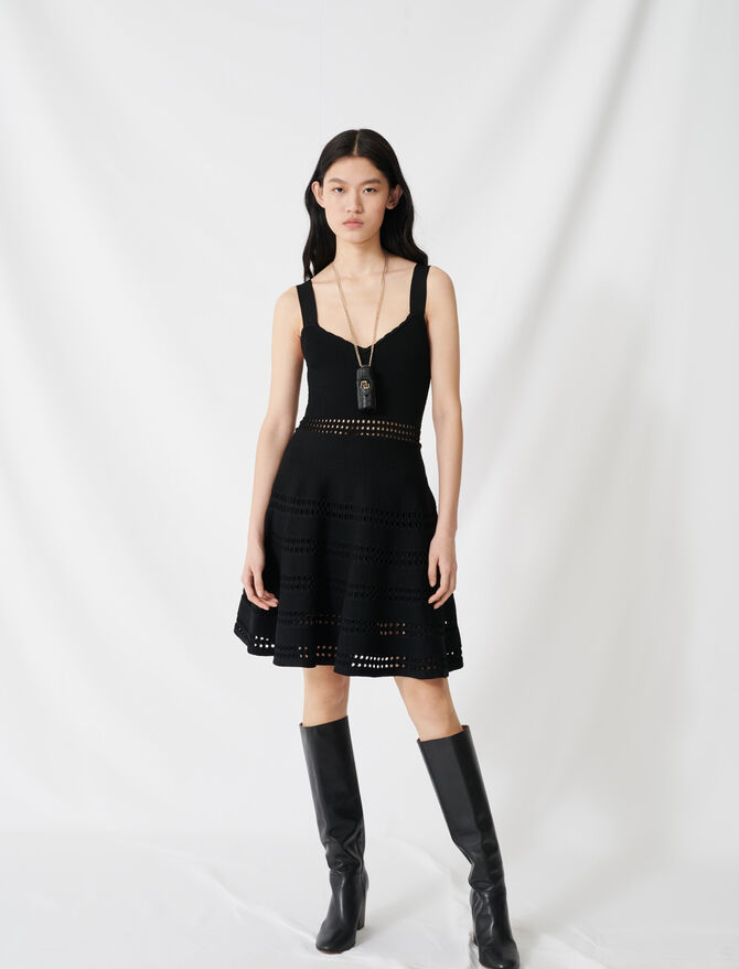 Openwork knit skater dress - Dresses - MAJE