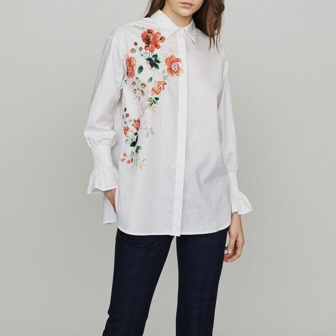 Floral print shirt - Tops - MAJE