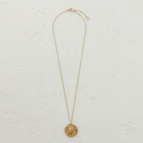 Gemini zodiac sign necklace : Medallions color GOLD