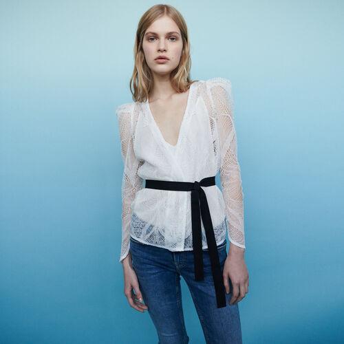 Lace wrap top : Tops color Ecru