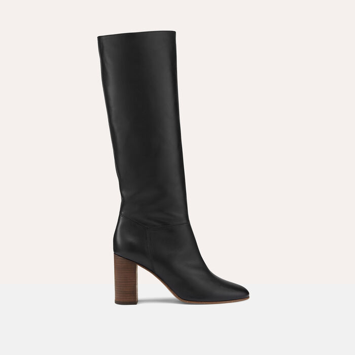 Smooth leather boots -  - MAJE