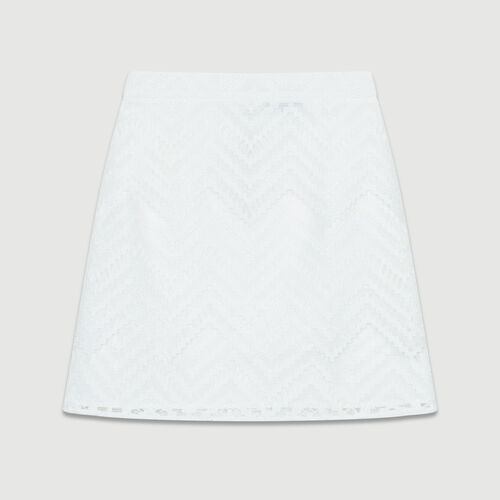 Short skirt with lace detailing : Ready to wear color White