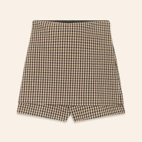 Short checked shorts : Skirts & Shorts color Jacquard