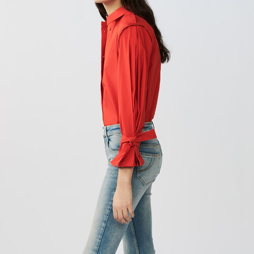 Shirt with intricate detailing : Tops color Red