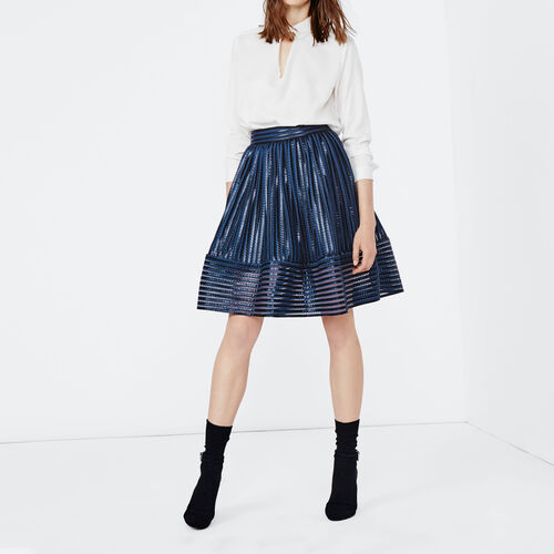 Puffball skirt in openwork knit : Skirts & Shorts color Black 210