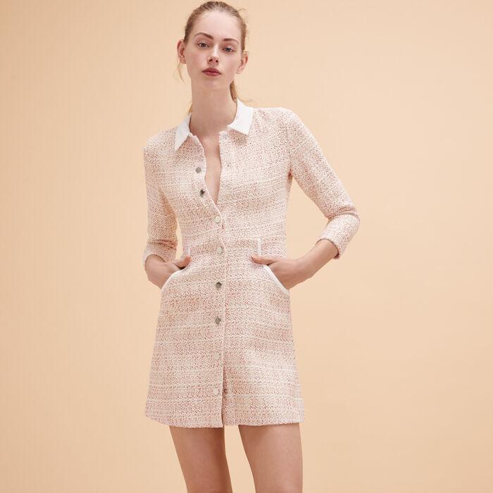 Jacquard buttoned dress -  - MAJE
