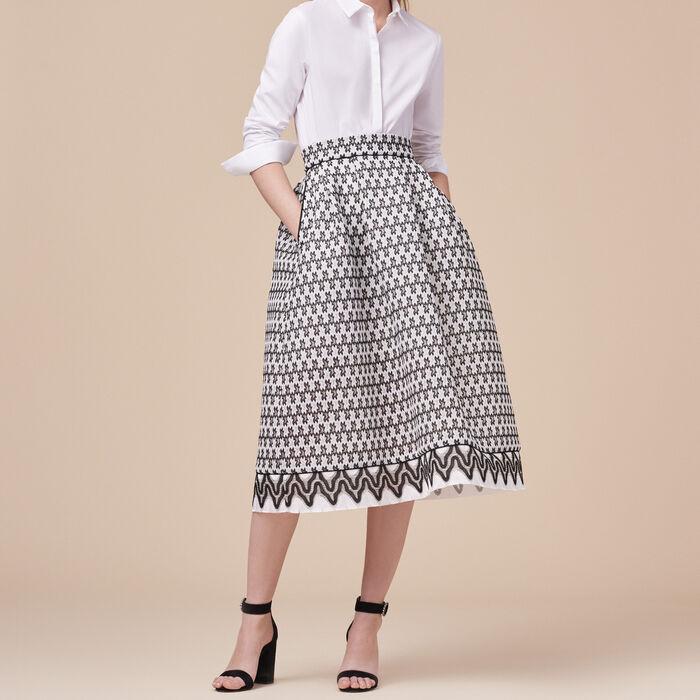 Lace midi skirt -  - MAJE