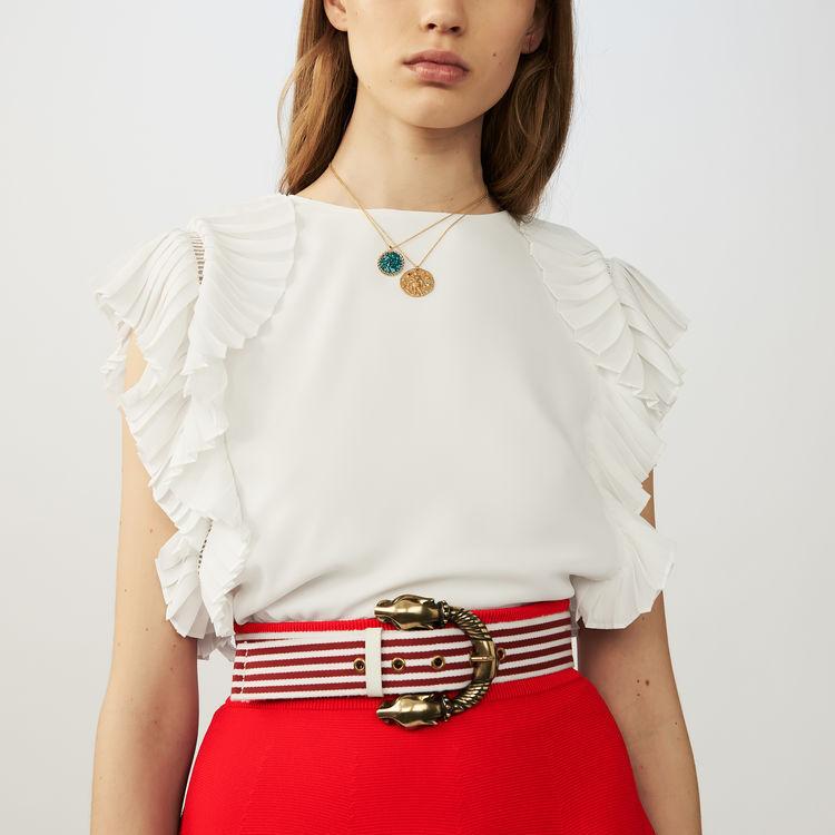 Striped cotton belt : Belts color Red