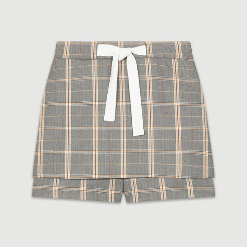 Checked shorts : Skirts & Shorts color CARREAUX