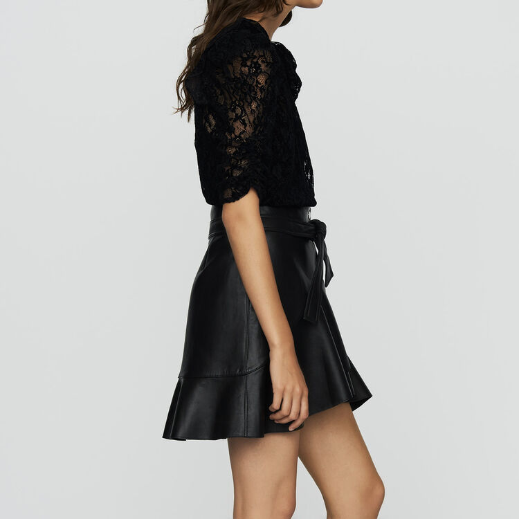 Velvet lace top : Tops color Black 210