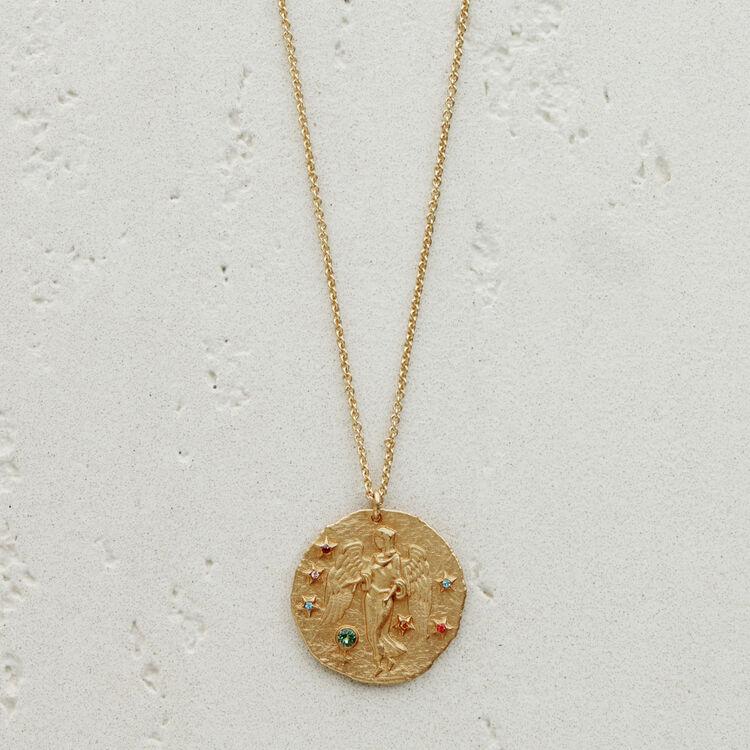 Virgo zodiac sign necklace : Medallions color GOLD