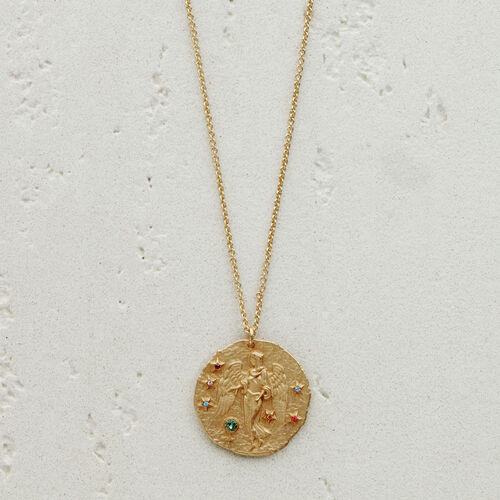 Virgo zodiac sign necklace : Jewelry color GOLD