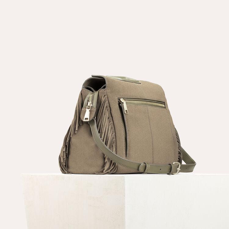 Suede shoulder bag : M Walk color Khaki