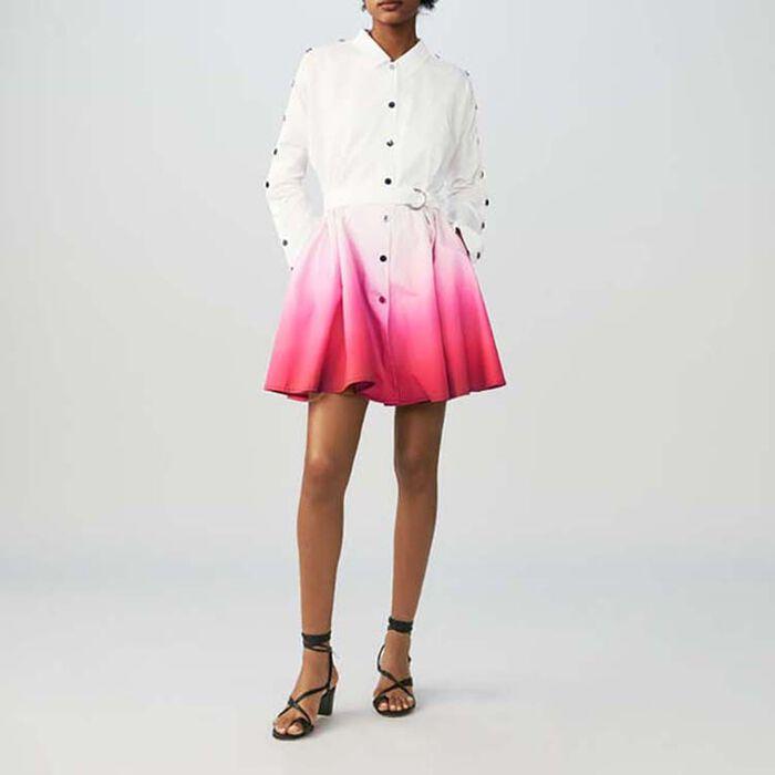 Tie-dye shirt dress : Dresses color Two-Tone