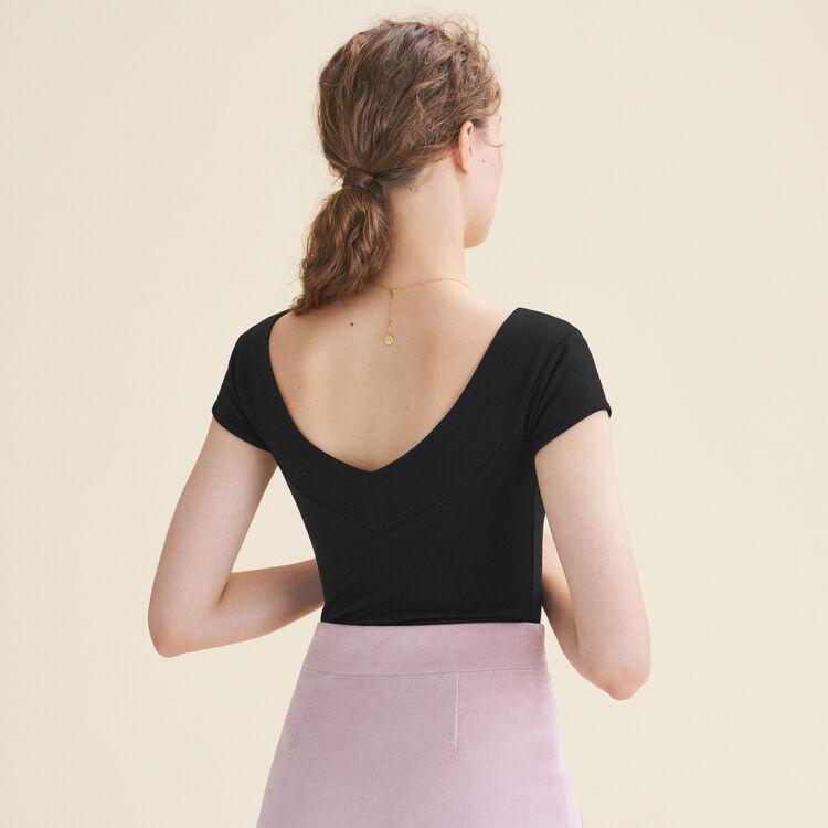 Short-sleeved bodysuit : T-Shirts color Black 210