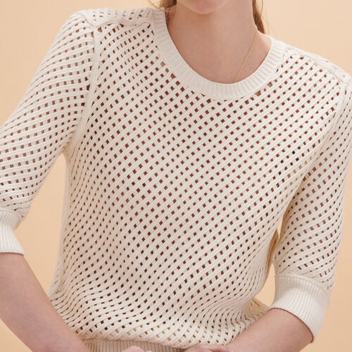 Woven knit jumper : Sweaters & Cardigans color Beige