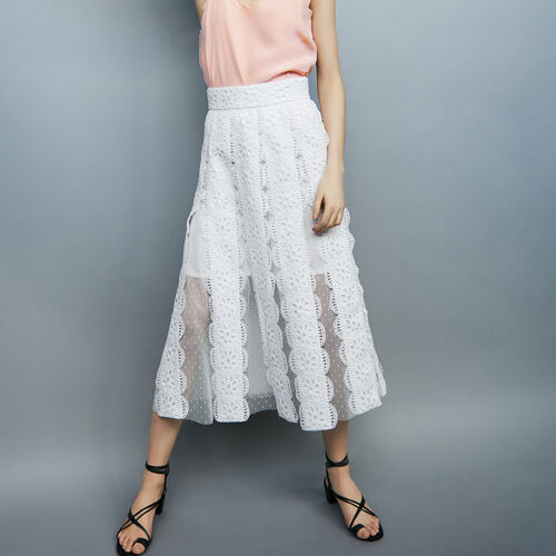 Lace skirt : Skirts & Shorts color White