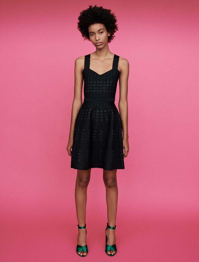 Lurex and knit dress - See all - MAJE