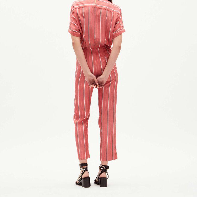 Striped jacquard jumpsuit : Jumpsuits color Stripe
