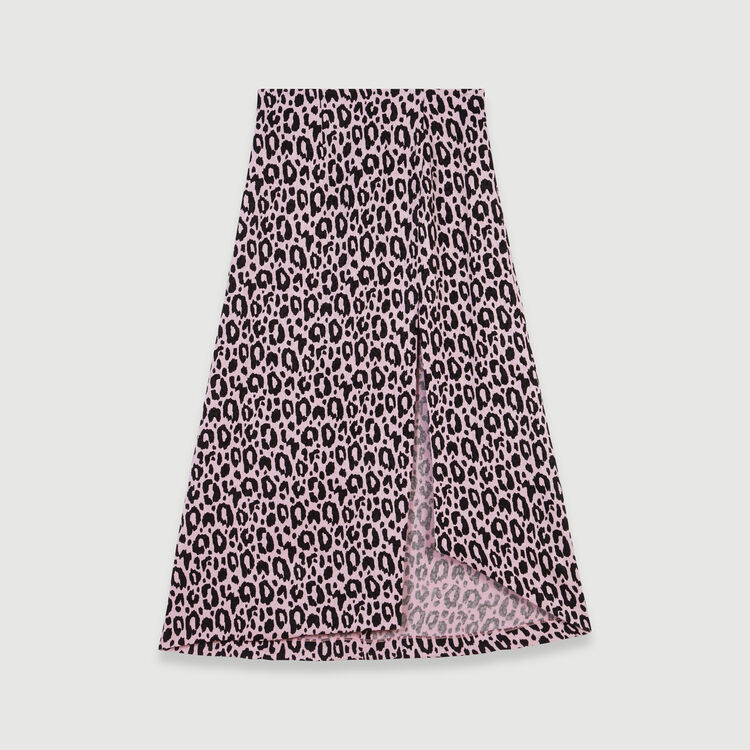 Jacquard-printed split skirt : Skirts & Shorts color Pink