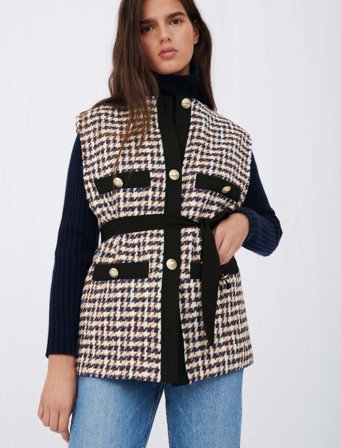 Tweed-style cardigan-inspired jacket - Pullovers & Cardigans - MAJE