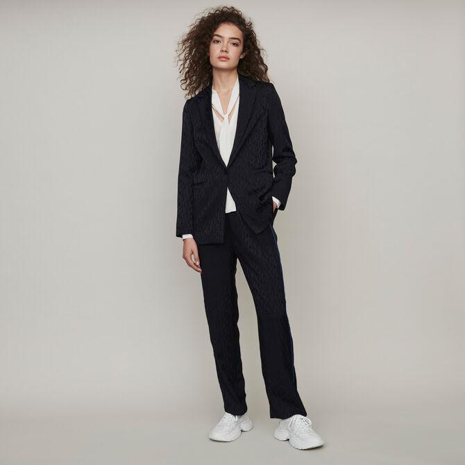 Loose-fit satin jacquard jacket - staff private sale 20 - MAJE