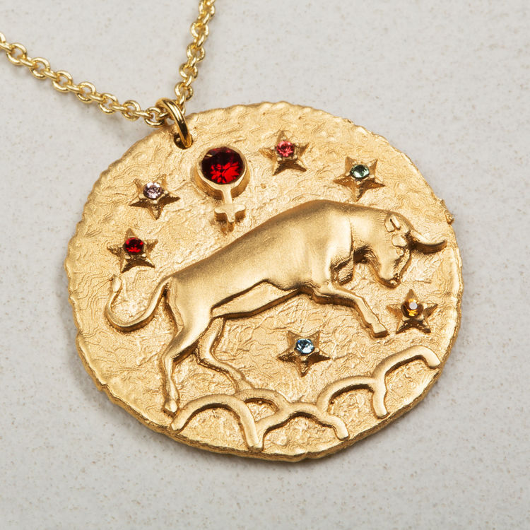 necklaces necklace gold displays sign shop star product taurus zodiac handmade ktcollection